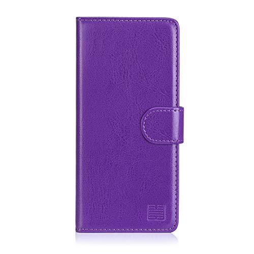 32nd PU Leder Mappen Hülle Flip Hülle Cover für BlackBerry Motion, Ledertasche hüllen mit Magnetverschluss & Kartensteckplatz - Violett