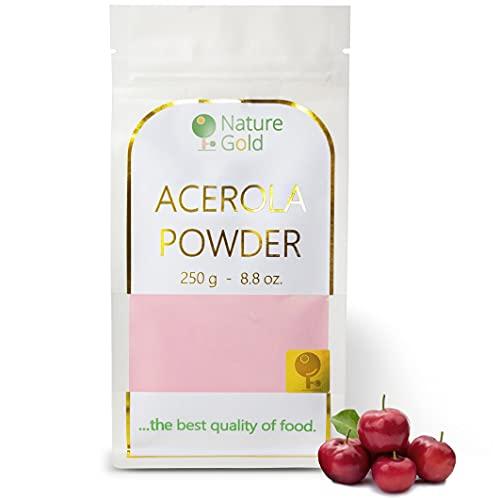 ACEROLA poudre | Vitamine C | Extrait D'Acérola Lyophilisé | 250g 8.8oz | 100% naturel et sans sucre | .boostez votre immunité naturelle ~*~