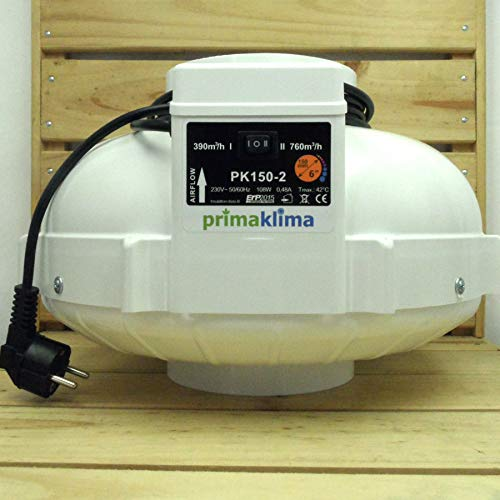 Prima Klima Rohrventilator 2-Stufen 390-760cbm / 150mm