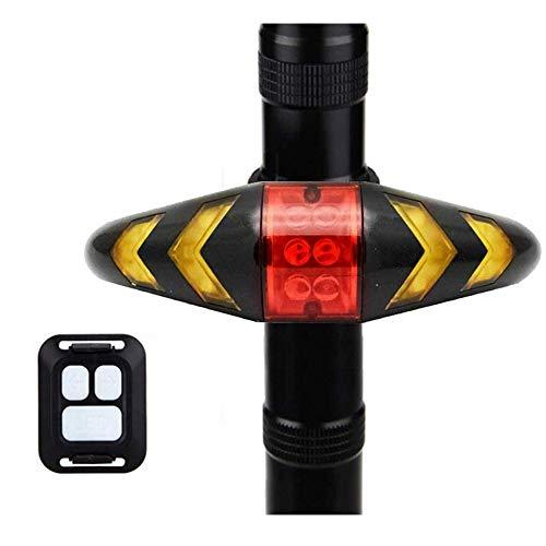IPX2 Impermeable Control Remoto Inalámbrico Luz Trasera para Bicicleta Luz Trasera para Bicicleta Luces Direccionales Luces Intermitentes Direccionales para Seguridad Noche Dia Cabalgando