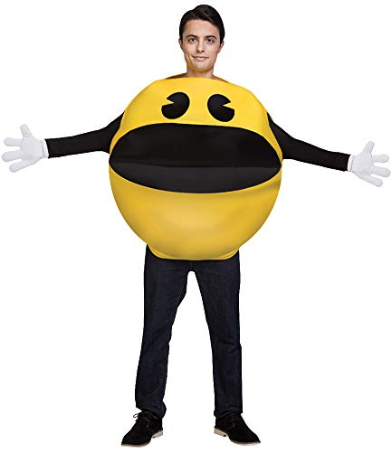 Adult Pac-Man Costume (one size) with two ways to wear it.