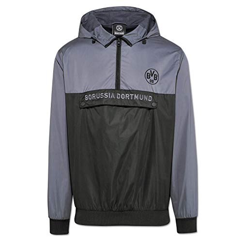 Borussia Dortmund Windbreaker Jacke (L, schwarz/grau)