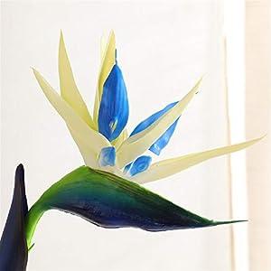 TRRT Fake Plants Single Bird of Paradise Artificial Flower Bouquet, Soft Plastic Flower Color Bird of Paradise Dried Flower Decoration Fake Flower