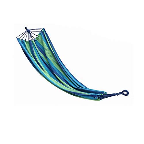 UWY Recreación Camas Dobles para hamacas 200 * 100 cm Al Aire Libre Interior Ocio Hamaca Columpio Lona para Dormir Columpio Hamaca Camping Regalos para Excursionistas (Color: B)