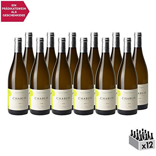 Chablis Weißwein 2018 - Domaine Jolly - g.U. - Burgund Frankreich - Rebsorte Chardonnay - 12x75cl