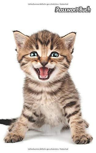 Passwort Buch: Kätzchen | 109 Seiten | Für 432 Einträge | Webseite, Benutzername, Passwort und Notizen | 12,7 cm x 20,3 cm Taschenbuch | Internet Security | Organizer | Journal | Notizbuch