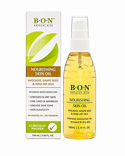B.O.N Skincare Nourishing Body and Facial Oil - All Natural Blend of Grape Seed, Rosehip Seed and Avocado Oil with Added Vitamin E, Spray Bottle | No Mineral Oil - 100 mL (3.38 FL. OZ.)