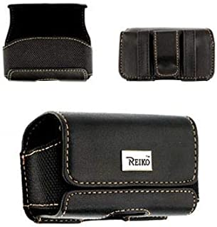 Classic Black Horizontal Leather Magnetic case fits The Home&Wellness Belle+ Medical Alert Device