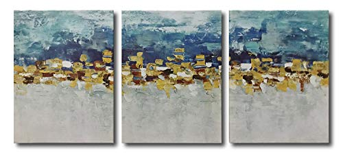 Best blue and gold abstract paintings
