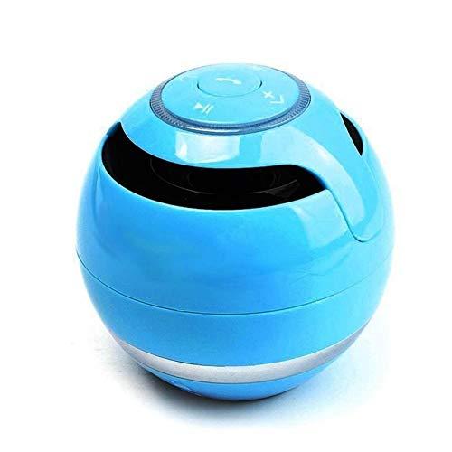 Hancoc Bluetooth Ventilador Azul Altavoz portátil inalámbrico Manos Libres de Radio de FM TF, Caja de música MP3 con un micrófono for PC de teléfono
