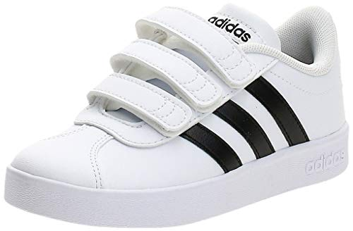 adidas VL Court 2.0 CMF C Fitnessschuhe, Weiß (Ftwbla/Negbas 000), 34 EU