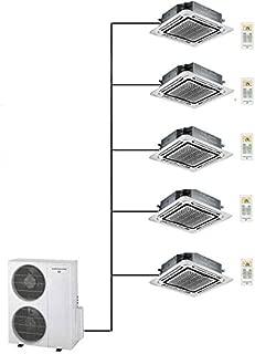 Thermocore T321Q-12X5-Cassette Ductless Mini Split Air Condition Heat Pump, Large, White