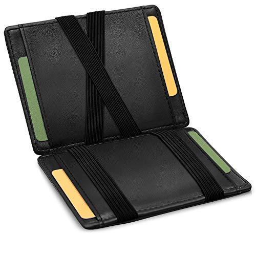 GenTo® Vegas - Geldbörse Herren - TÜV geprüft - Magic Wallet - Magischer Geldbeutel ohne Münzfach - Inklusive Geschenkbox - Smart Wallet