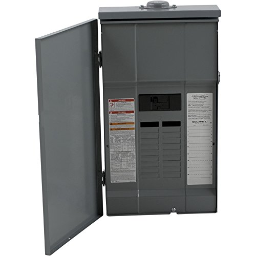 Square D by Schneider Electric QO12030M150RB QO 150 Amp 20-Space 30-Circuit Outdoor Main Breaker Load Center with Cover,