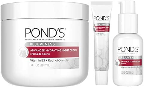 Pond s Skin Care Regimen Pack Anti Aging Face Moisturizer Eye Cream and Face Serum Rejuveness product image