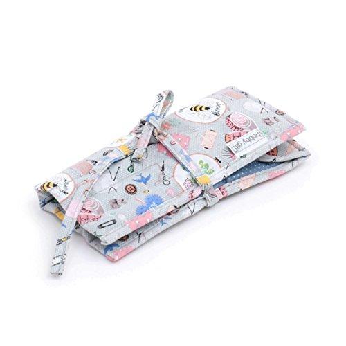 Crochet Hook Roll Case - Filled - Homemade Hobby Gift MR4703F 286 18x18 1/2x1 cm