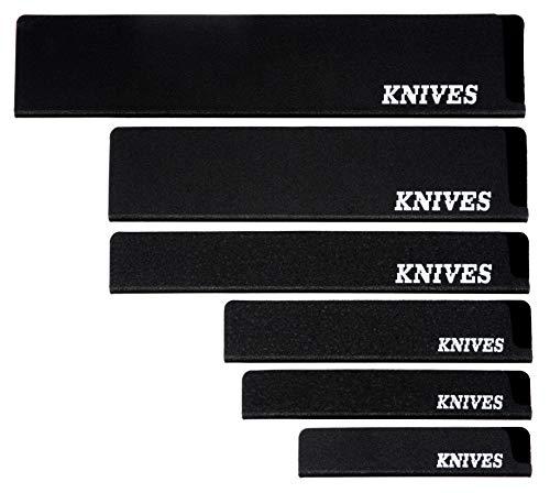 Knives Universal Messerschutz Set 6-Stück für Messer, Brotmesser, Schinkenmesser, Gemüsemesser, Kochmesser, perfekt als Klingenschutz für die Schublade