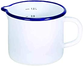 1.2 Liter LOVIVER Enamel Spouted Milk Pot//Milk Pan//Saucepan Warmer//Enamelware - Red 12x8cm