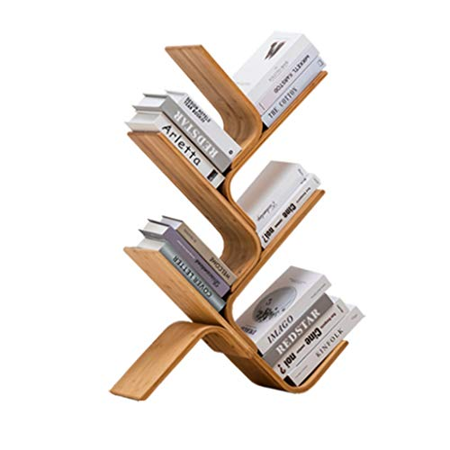 AVEO Bookshelf Bookshelf Simple Table Bookcase Multi Layer Creative Tree Bookshelf Free Standing Shelving Storage Display Unit for Living Room Bookcase (Size : Five Floors)