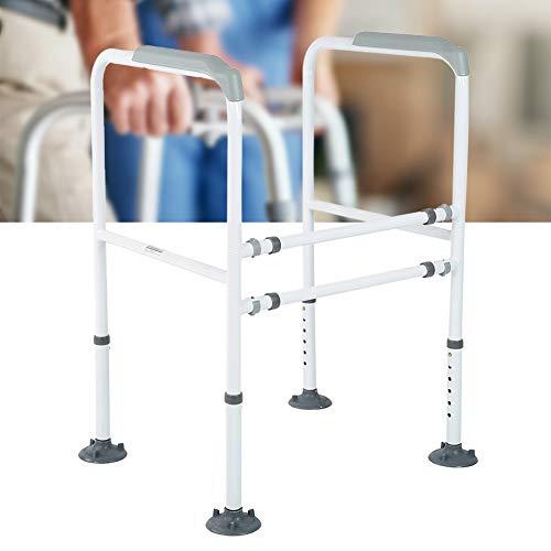 Höhenverstellbar WC-Aufstehhilfe Toiletten Stützgestell Haltegriff Stützgriff Sicherheitsgestelle mit 4 starken Sauggummisaugern für Senioren Schwangere Deaktiviert, Maximale Tragfähigkeit 113kg
