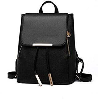 Korean version fashion double shoulder bag Backpack Black WB15