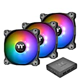 THERMALTAKE CL-F063-PL12SW-A Ventilateur Pure Plus RGB 12 TT 3 Pack - Black