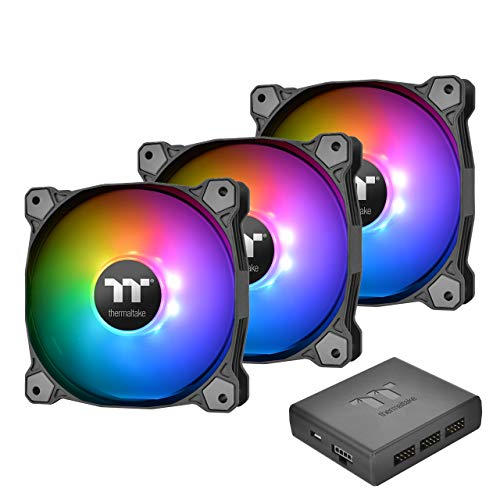Thermaltake Pure Plus 12 RGB Radiator Fan TT PremiumEdition -3Pack- PCケースファン FN1193 CL-F063-PL12SW-A