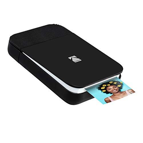 KODAK Smile Impresora Digital instantánea – Mini Impresora desplegable con Bluetooth para iPhone y Android – Edite, imprima y comparta con la aplicación Smile. 2x3 Papel Zink – Negra/Blanca