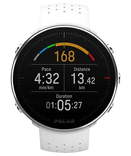 Polar Vantage M, Sportwatch per Allenamenti Multisport, Corsa e Nuoto, Impermeabile con GPS e Cardiofrequenzimetro Integrato, 46 mm, Unisex Adulto, Rosso, M/L