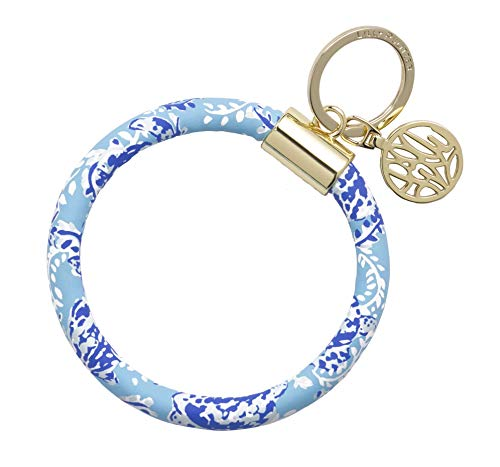 Lilly Pulitzer Round Keychain Turtley Awesome One Size