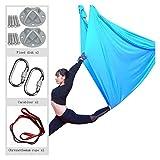 YANFEI 5m * 2.8m Yoga Flying Swing Aéreo de Yoga Hamaca de Tela de Seda para Pilates antitravísticos de Yoga (Color : Blue)