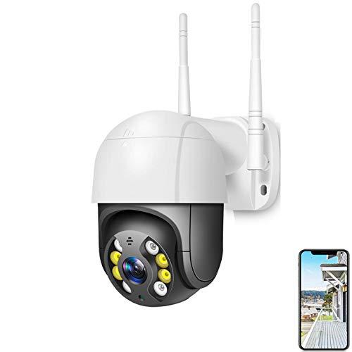 XIAOSHEN Al aire libre 1080P PTZ Wifi cámara IP AI detección de cuerpo humano de audio de dos vías IP66 impermeable con tarjeta de 64G soporte de almacenamiento en la nube negro