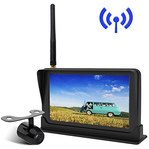 Peizeen Wireless Backup Camera with 4.3' LCD Screen HD Rear View Camera Kit Waterproof Reverse Cam Parking Lines for Cars, Minivans, SUV,Minibus(MN01)