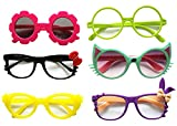 Glasses For Children Kids Boys Girls Stylish Cute Frame Without Lenses, Pack of 6 (Combo #2)