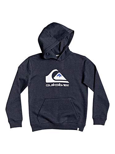 Quiksilver™ Big Logo - Sweat à Capuche - Garçon 8-16 Ans, Bleu (Navy Blazer Heather), XL