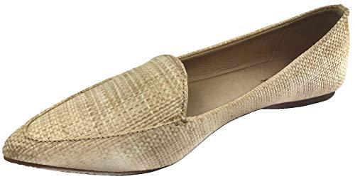 Harper Shoes Loafer Flat Closed Toe Slip On, Natural, 8