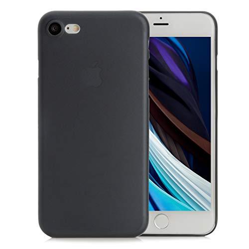 Arktis Hülle kompatibel mit iPhone SE (2020), Handyhülle Ultraslim Federleichte Schutzhülle Case Schale Hardcase [kabelloses Laden möglich] [360 Grad Schutz] [Anti-Fingerprint] - Schwarz Transparent
