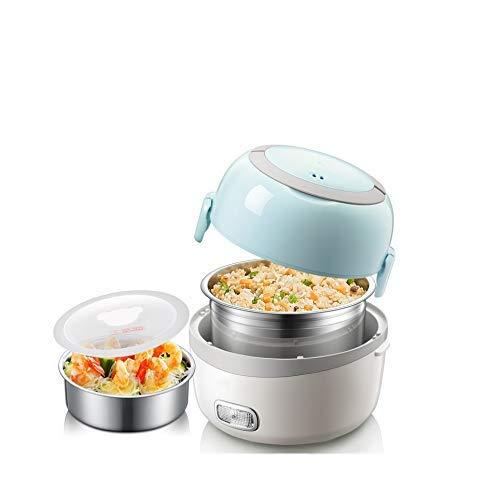 BANNAB Modische Reiskiste tragbarer Reiskocher zum Erhitzen von Lebensmittelbehältern elektrische Edelstahl Lunchbox Home Office