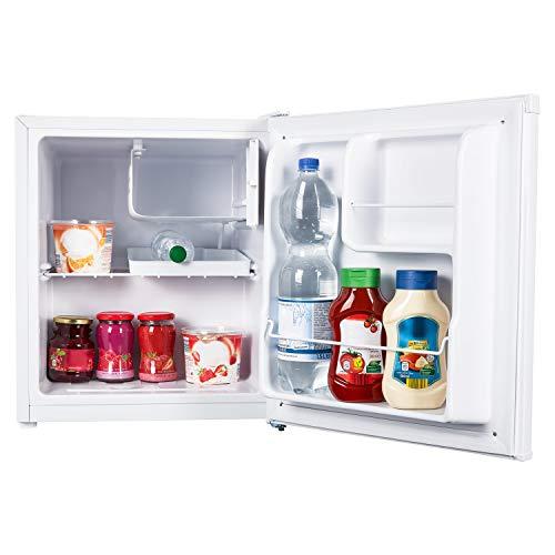 MEDION Tischkühlschrank mit Eisfach MD 37574 (41 L Gesamt-Nutzinhalt, Eiswürfelfach mit 4 L, manuelle Temperatureinstellung, Türanschlag wechselbar)