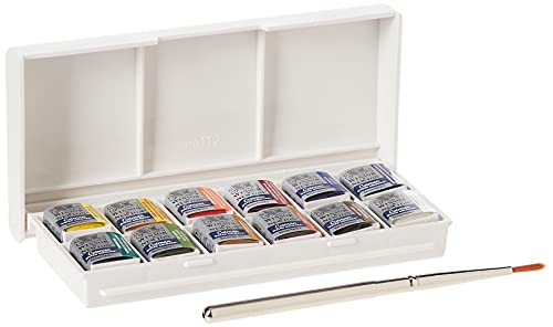 Oferta de Winsor & Newton acuarela Cotman - Caja de acuarela Sketcher - set de 12 medio godets, colores surtidos