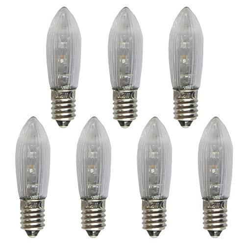AUSWAHL Menge - netSells - LED Topkerze Riffelkerze Spitkerze - 0,1-0,2 Watt 8-55 Volt - für INNEN - klar - hier: 7 Stück
