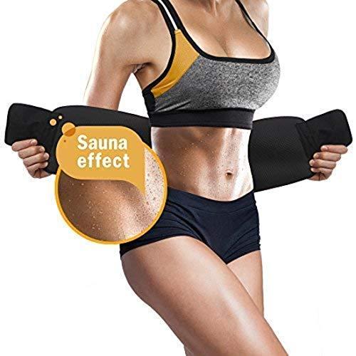 ANEMOI Bluee Sweat Waist Fat Burner Body Slimming Belt (Black)