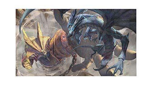 MPCGM Blue Eyes Dragon Fight Exodia Yugioh Playmat - Card Zone Gaming Playmat TCG OCG Mat