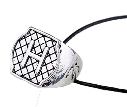 Halskette - Ring - Morgenstern - City Of Bones - The Mortal Instruments - Shadowhunters - Buchstaben - Initialen - Eingraviert - Idee - Geschenk - Cosplay - (Buchstabe - H)