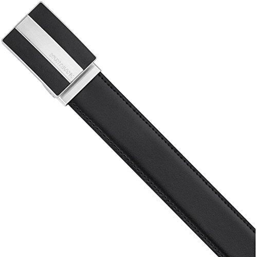 Montblanc Classic - Cinturón de piel unisex, Unisex adulto, Cinturón de piel., 112962, negro y marrón, 120