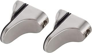 KES HSB304-2-P2 Solid Metal Adjustable Wood/Glass Shelf Bracket Wall Mount 2 Pcs or One Pair, Brushed Nickel