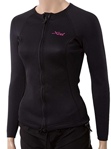 XCEL Women's Longsleeve Wetsuit Jacket w/Cinch Cord 18 Black