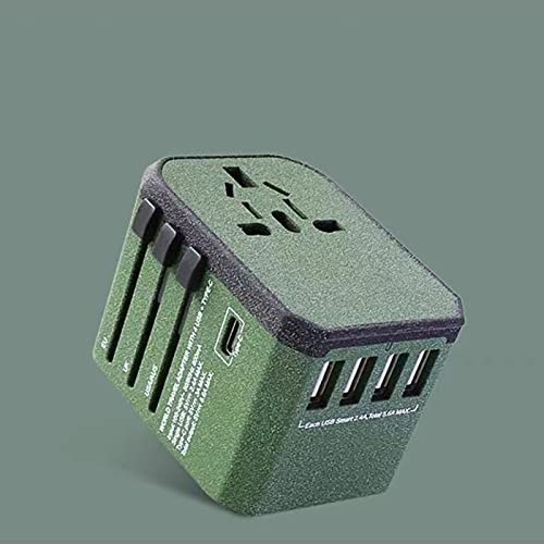 Xhlc International Universal Travel Adapter Power Adapter, Multi-Function Apple Plug Fast Charge Universal Charging Adapter for EU, The United States, Australia, United Kingdom(Color:c)