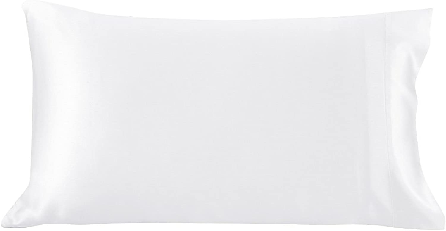 LilySilk UK2005-02-5075 100% Mulberry Silk Pillowcase Terse 25 Momme Queen 20  x 30  White