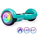 SISIGAD Hoverboard Self Balancing Scooter 6.5' Two-Wheel Self Balancing Hoverboard with LED Lights Electric Scooter for Adult Gift UL 2272 Certified - Green